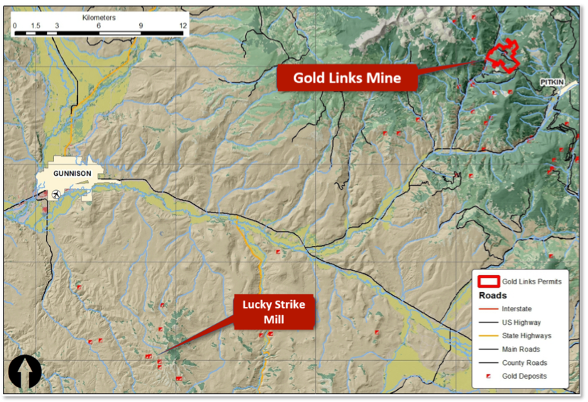 Project location, access and topography, Gunnison County